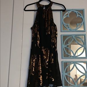 Dresses & Skirts - Black & bronze/gold sleeveless dress